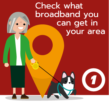 Check what broadband you can get in your area